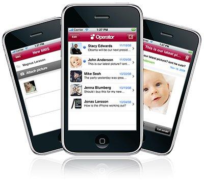 La primera aplicación nativa MMS para el iphone