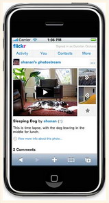Yahoo actualiza par el Iphone Flickr, con soporte para vídeo