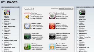 Nuevo formato en el listado de las Aplicaciones más descargadas de la AppStore