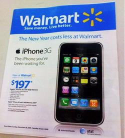 Valmart empieza hoy con la venta del Iphone 3G en EEUU