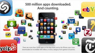 500 millones de descargas desde la AppStore
