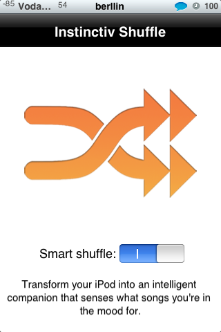 Instinctiv Shuffle. Escuha de forma aleatoria la música de tu iphone