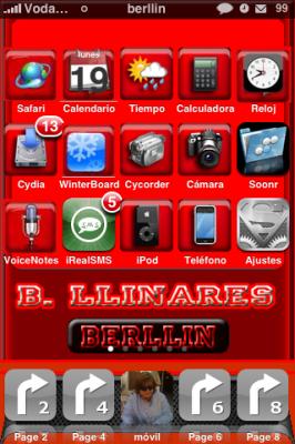 Reflective Dock. Personalización de los iconos en el Dock del iPhone con sombras