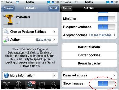 ImaSafari – Desactiva las imágenes de las páginas Web en Safari