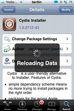 Actualización - Cydia: 1.0.2712-43