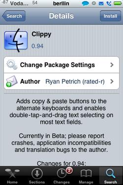 Clippy 0.94 – Actualización