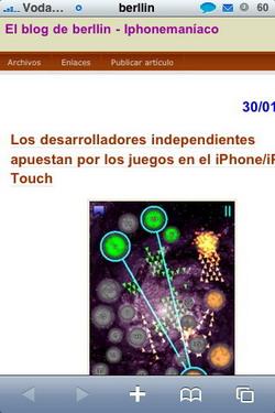 Guardar imágenes desde Safari en el iPhone
