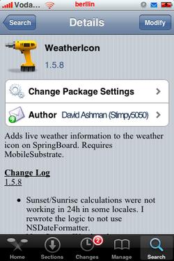 Weathericon 1.5.8 - Actualización