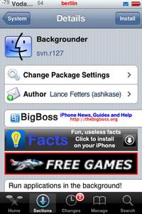 Backgrounder, aplicación que permite que otras trabajen en segundo plano con el iPhone