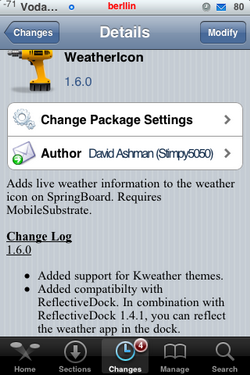 Weathericon 1.6.0 - Actualización