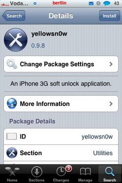 Yellowsn0w 0.9.8 - Actualización (Liberación para el iPhone 3G)