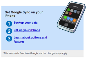 Configurar el iPhone o el iPod Touch Con Google Sync