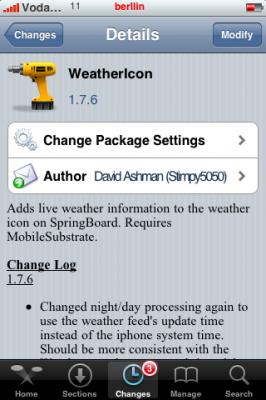 Weathericon 1.7.6 - Actuatización para el iPhone
