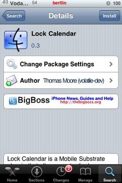 Lock Calendar 0.2 y 0.3 - Actualización para el iPhone e iPod Touch