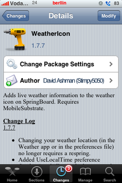 Weathericon 1.7.7 - Actualización para el iPhone