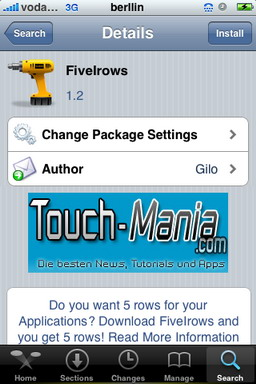 FiveIrows 1-2 - Actualización - Cydia - iPhone / iPod Touch