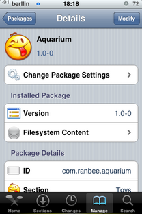 Aquarium 1.0-0, Tema para el iPhone / Touch