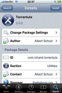 Torrentula V2.0.2 – Aplicación para descargar archivos Torrent en el iPhone / iPod Touch