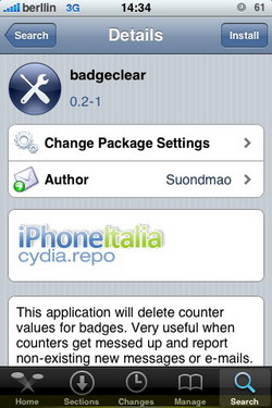 BadgeClear 0.2-1, corrige el error de las notificaciones ya vistas en el iPhone
