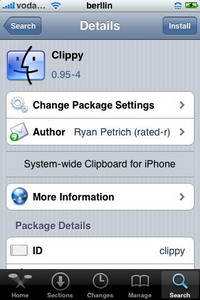Clippy 0.95-7 – Actualización – Cydia – iPhone / iPod Touch