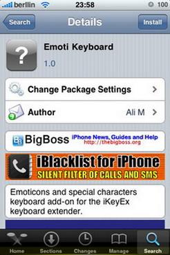 Emoti keyboard, emoticones y símbolos para el iPhone / iPod Touch