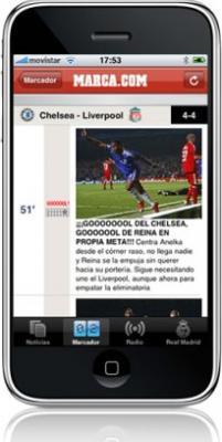 Marca.com, nueva aplicación para el iPhone / iPod touch